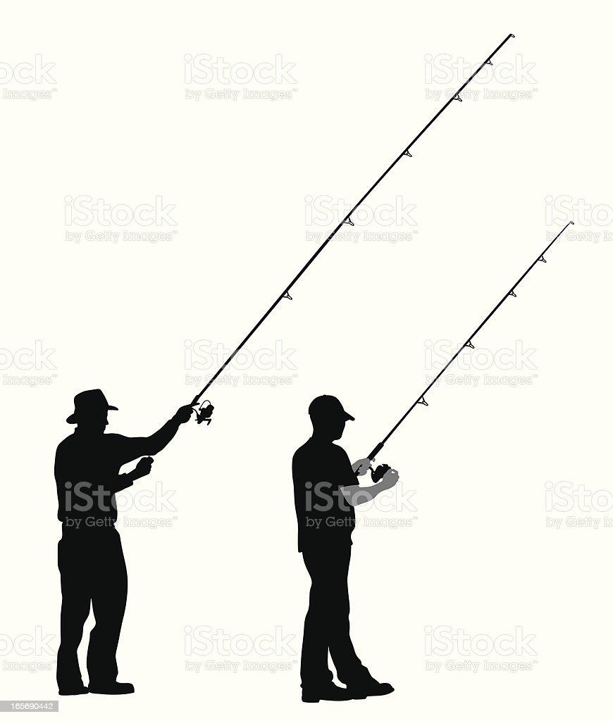 Gone Fishing Vector Silhouette vector art illustration