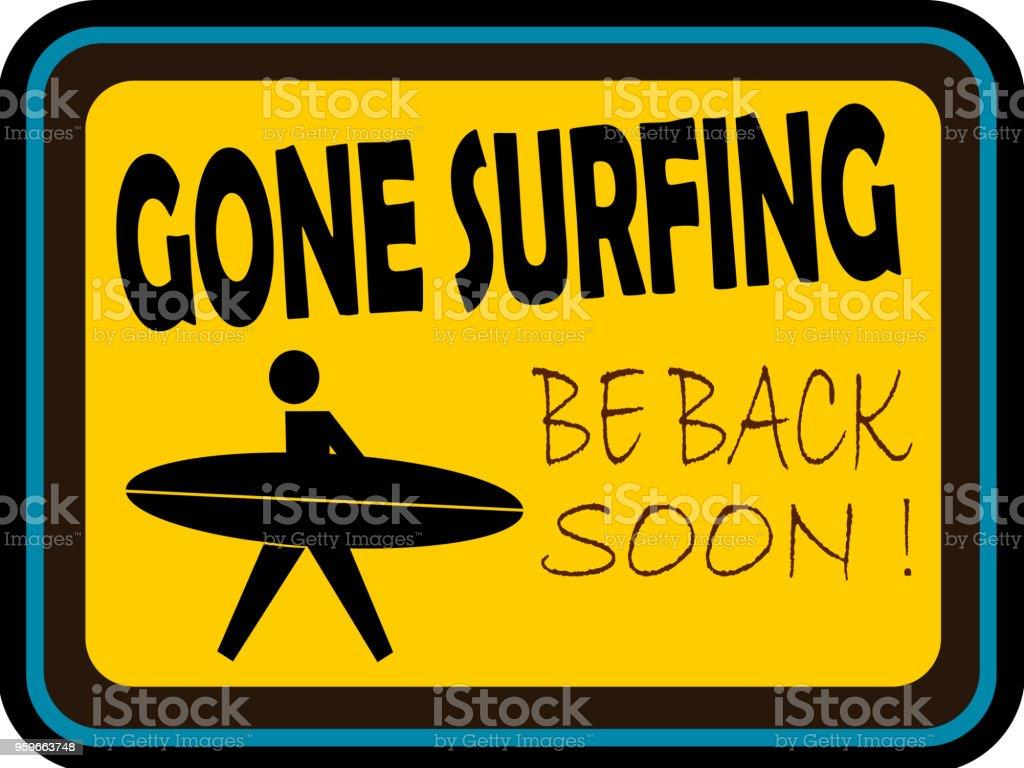 Ido de surf - arte vectorial de Aire libre libre de derechos