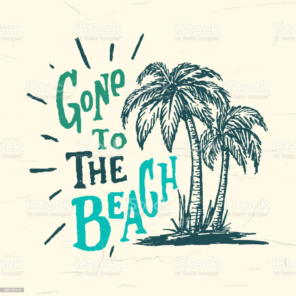 Gone To The Beach Funny Handmade Vintage Wall Sign Stock