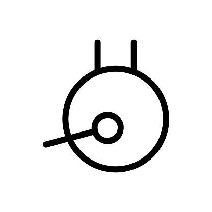 gong icon vector. Isolated contour symbol illustration