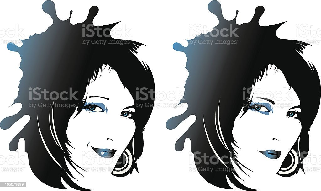 Good and bad face royalty-free stock vector art