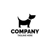 Good Boy Dog vector design template. Graphic puppy friend Symbol, sign and symbol. Pet silhouette label illustration isolated on background. Modern animal badge for veterinary clinic, pet food