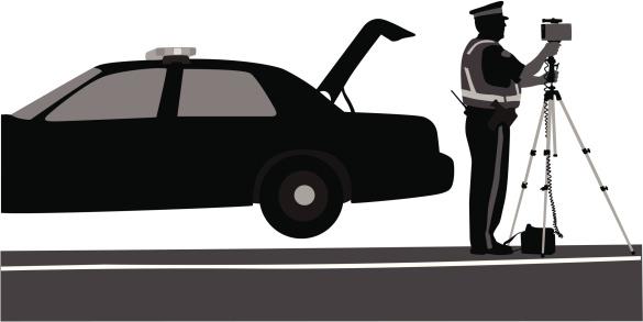 Good Cop Bad Cop Vector Silhouette