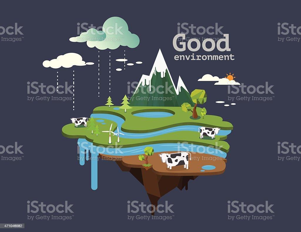 good environment. vector art illustration