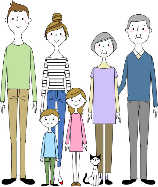 Good family - illustrazione arte vettoriale