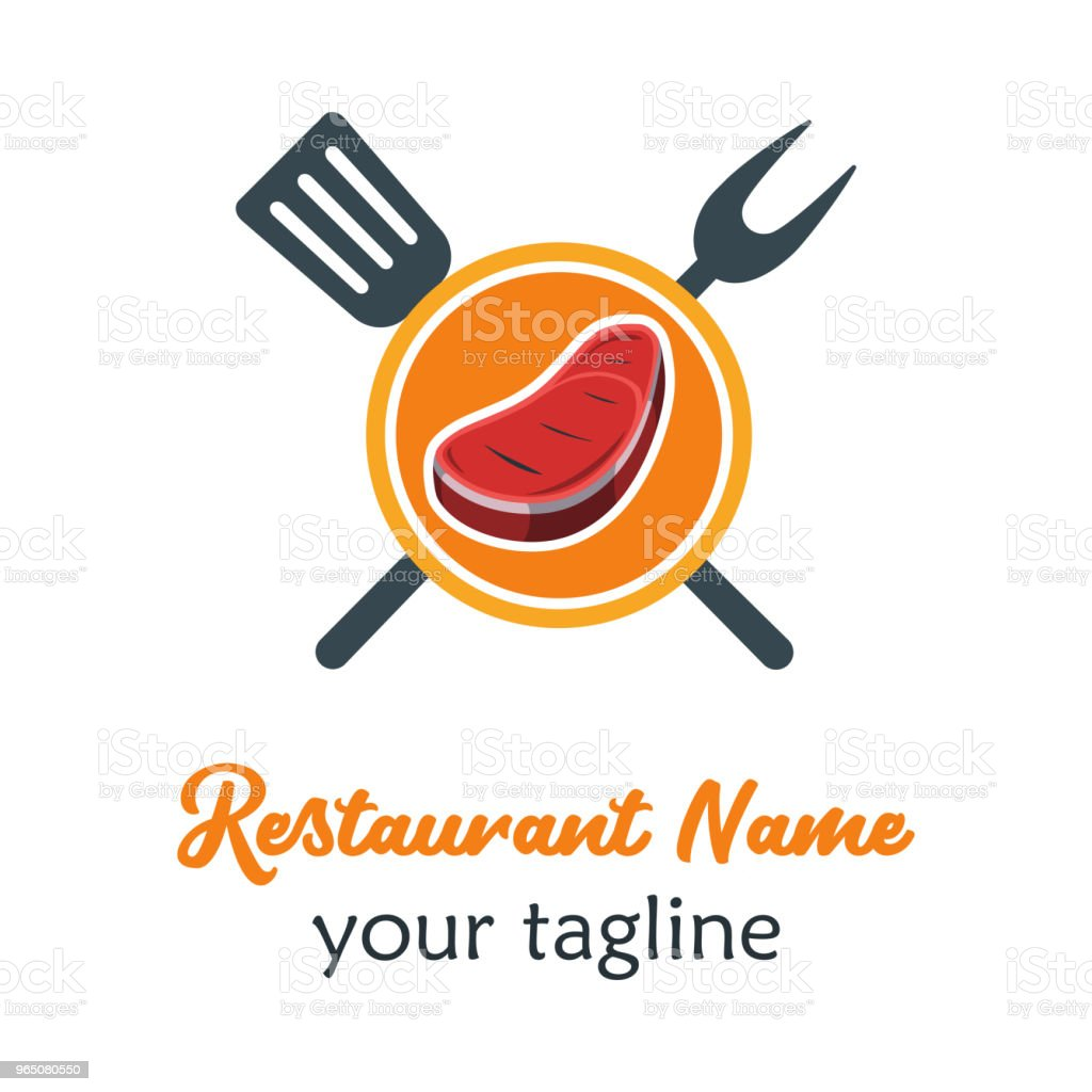 Good Food Logo Icon. Restaurant Culinary Kitchen Canteen Catering Design Concept. Circle Plate Beef with Fork and Spatula Vector Illustration good food logo icon restaurant culinary kitchen canteen catering design concept circle plate beef with fork and spatula vector illustration - stockowe grafiki wektorowe i więcej obrazów biznes royalty-free