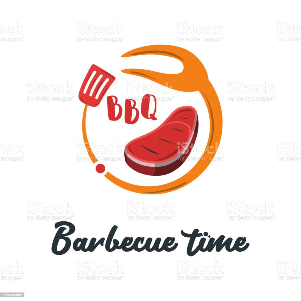 Good Food Logo Icon. Restaurant Culinary Kitchen Canteen Catering Design Concept. Circle Fork and Spatula with Barbecue Vector Illustration good food logo icon restaurant culinary kitchen canteen catering design concept circle fork and spatula with barbecue vector illustration - stockowe grafiki wektorowe i więcej obrazów biznes royalty-free