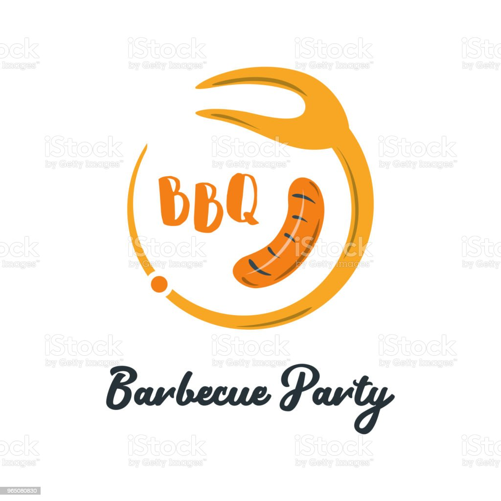 Good Food Logo Icon. Restaurant Culinary Kitchen Canteen Catering Design Concept. Circle Fork with Barbecue Vector Illustration good food logo icon restaurant culinary kitchen canteen catering design concept circle fork with barbecue vector illustration - stockowe grafiki wektorowe i więcej obrazów biznes royalty-free