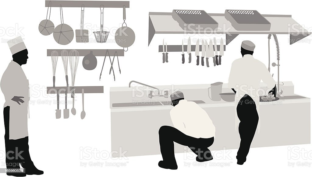 Good Food Service Vector Silhouette royalty-free stock vector art