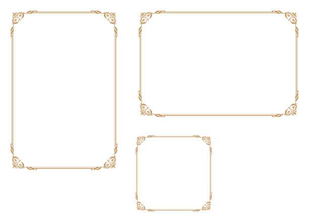 illustrazioni stock, clip art, cartoni animati e icone di tendenza di good frame for a4 size paper.decorative frame. - ninnolo