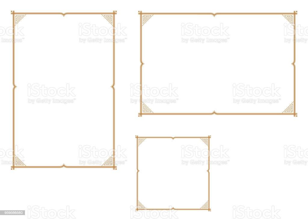 ilustração de bom quadro para papel de tamanho a4 quadro decorativo