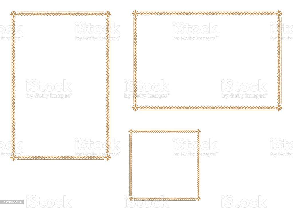 Guten Rahmen Für A4papier Zierrahmen Stock Vektor Art und mehr ...