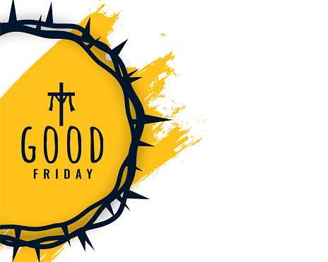 good friday background with crown of thorns