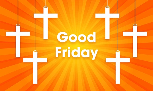 good friday peace holy week background vector