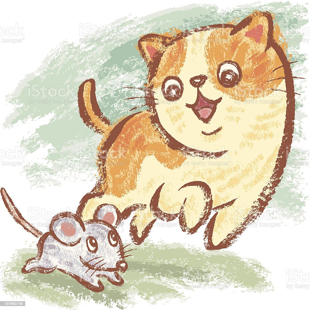Good friend cat and mouse royalty-free good friend cat and mouse stock vector art & more images of animal