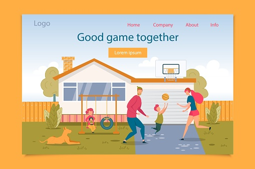 Good Game Together for Family Time Landing Page