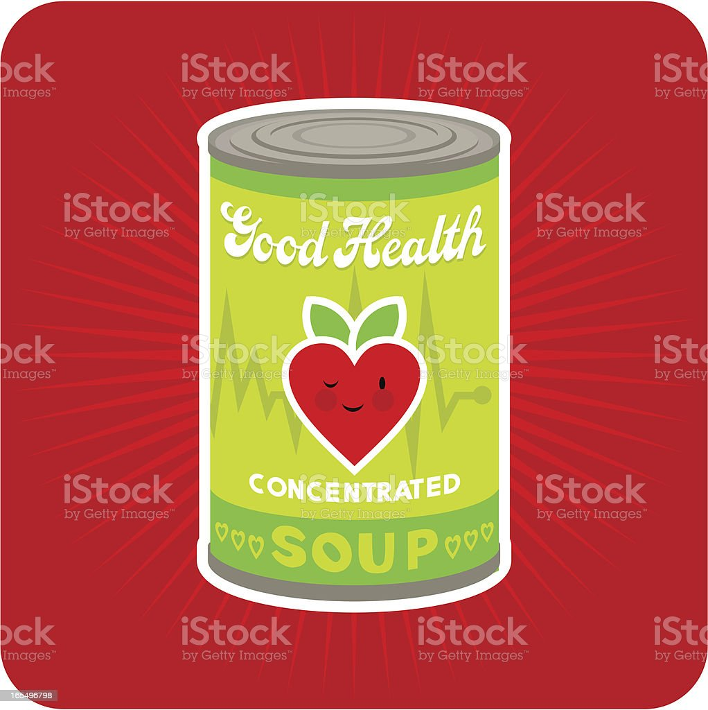 Good health concentrated royalty-free stock vector art
