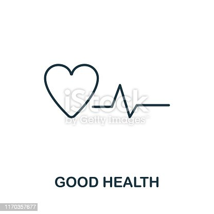 Good Health outline icon. Thin line style from community icons collection. Pixel perfect simple element good health icon for web design, apps, software, print usage.