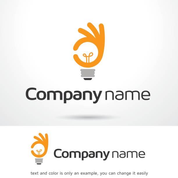 좋은 아이디어 기호 서식 파일 디자인 벡터, 상징, 디자인 개념, 크리에이 티브 기호 아이콘 - 샘플 텍스트 stock illustrations