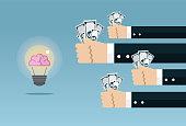 Brain, Admiration, Business, Finance, Working