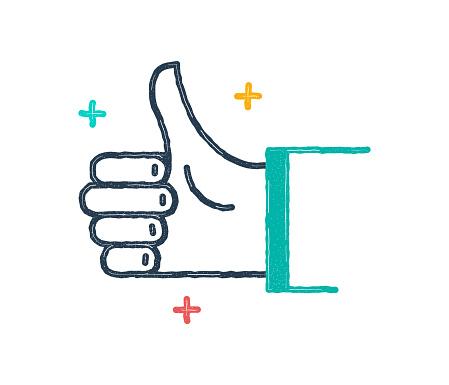 Good Job! Flat & Line Icon Design