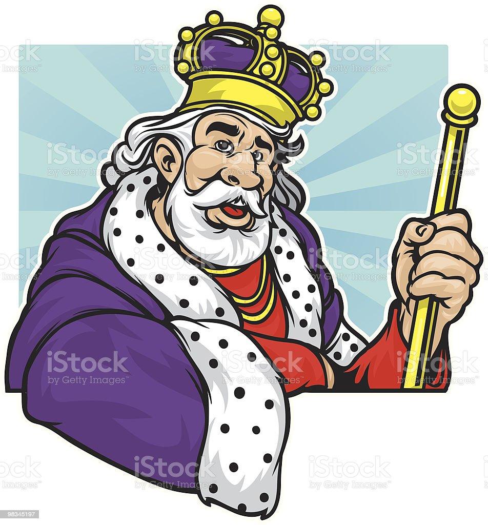 Buena cama King - ilustración de arte vectorial