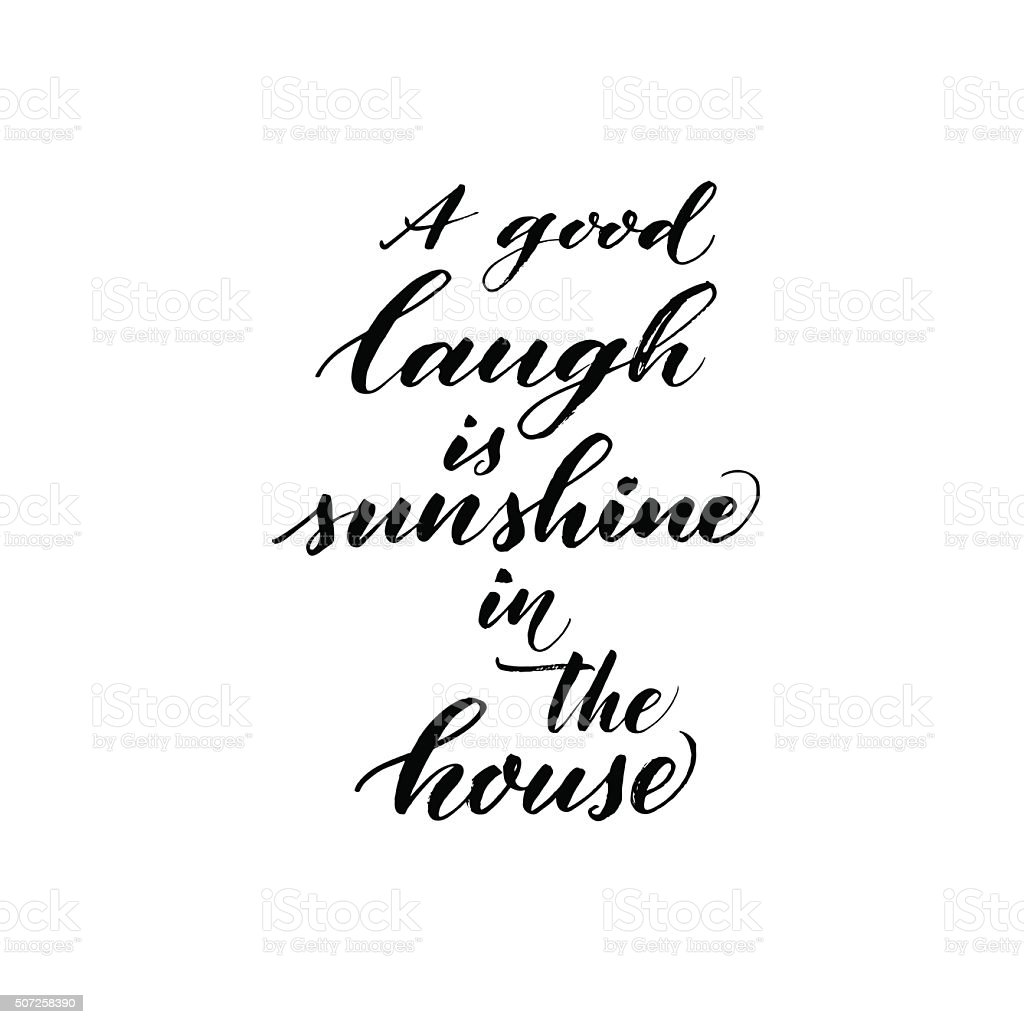 A Good Laugh Is Sunshine In A House Inspirational Sign