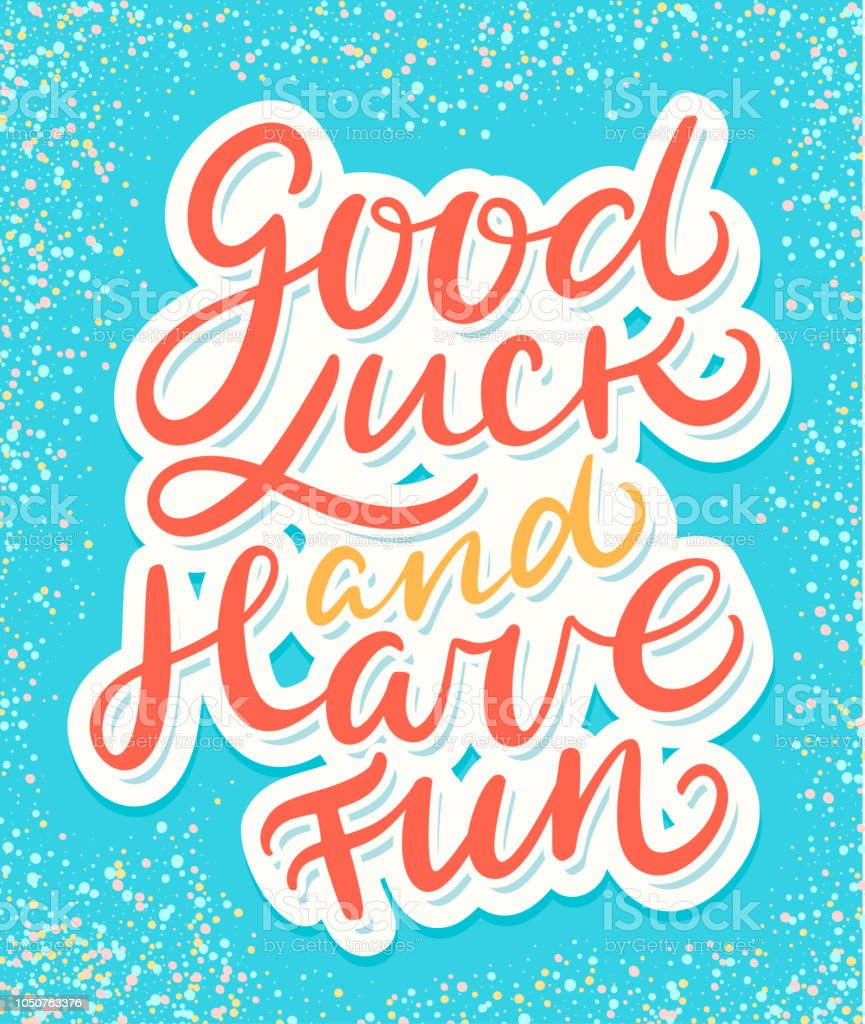 Good Luck And Have Fun Farewell Card Stock Illustration