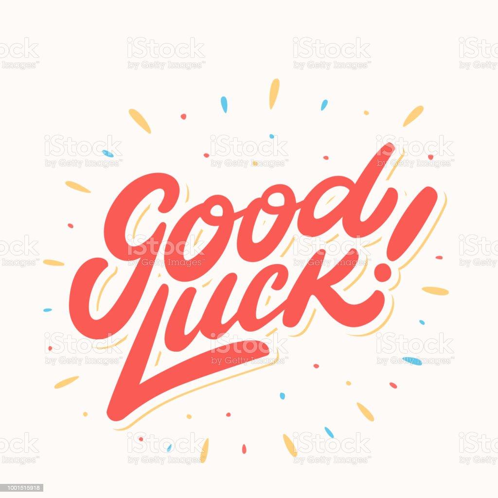 Good Luck Farewell Card Vector Lettering Stock Vector Art More
