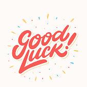 istock Good luck. Farewell card. Vector lettering. 1001515918