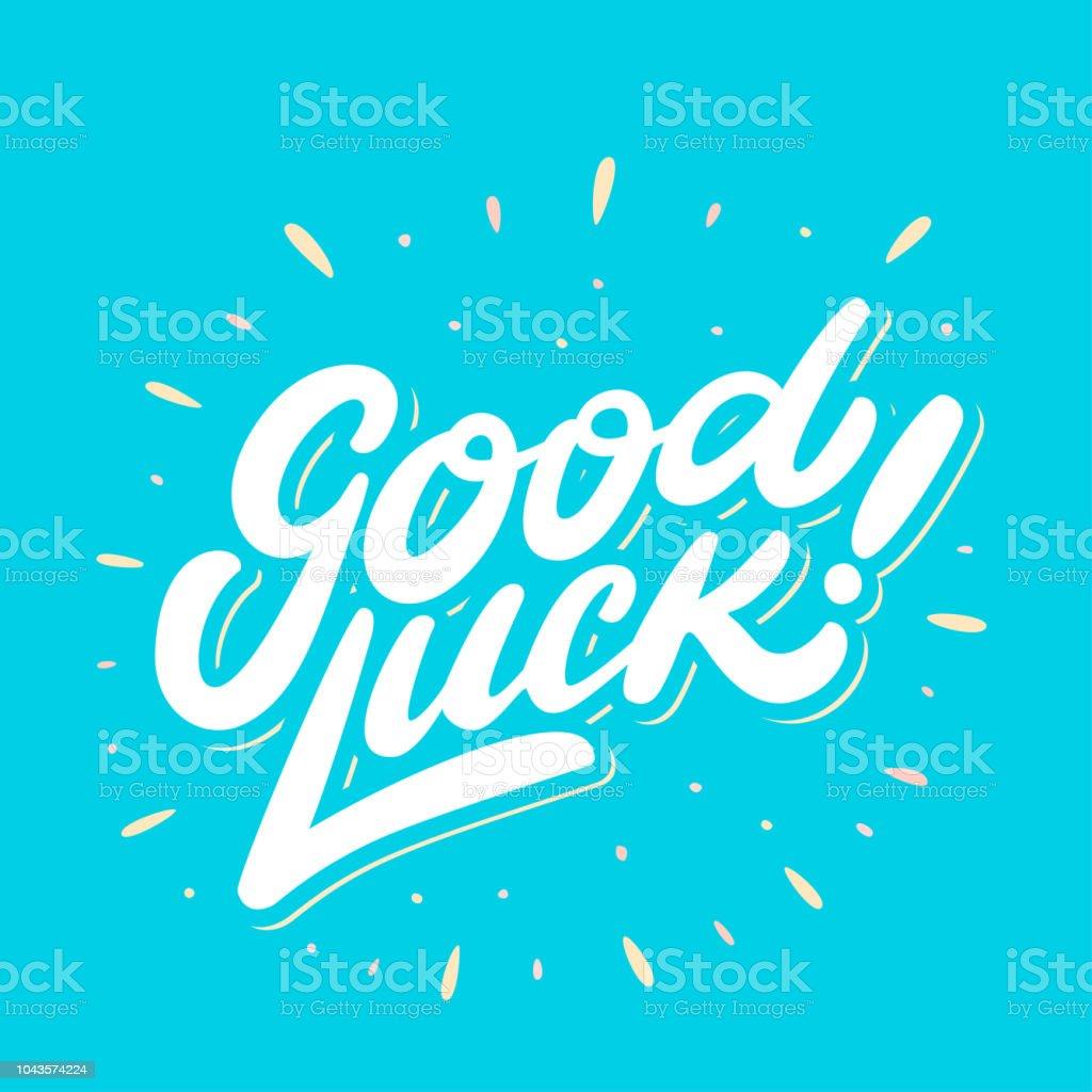 Good Luck Farewell Card Vector Lettering Stock Illustration