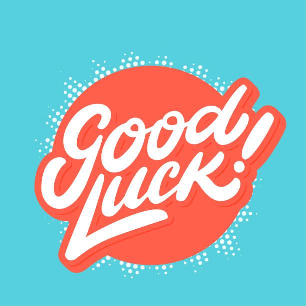 Good luck. Farewell card. Vector lettering. vector art illustration