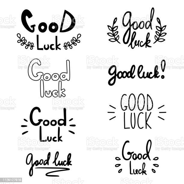Good luck lettering vector illustration with lucky greeting hand vector id1126127616?b=1&k=6&m=1126127616&s=612x612&h=ygcvhsc5oxh tom25 o6 23ocqo0ow0b0ilagngzcru=