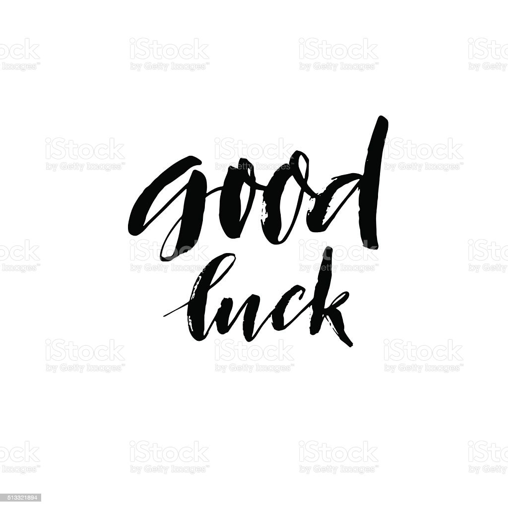 Good luck phrase. vector art illustration