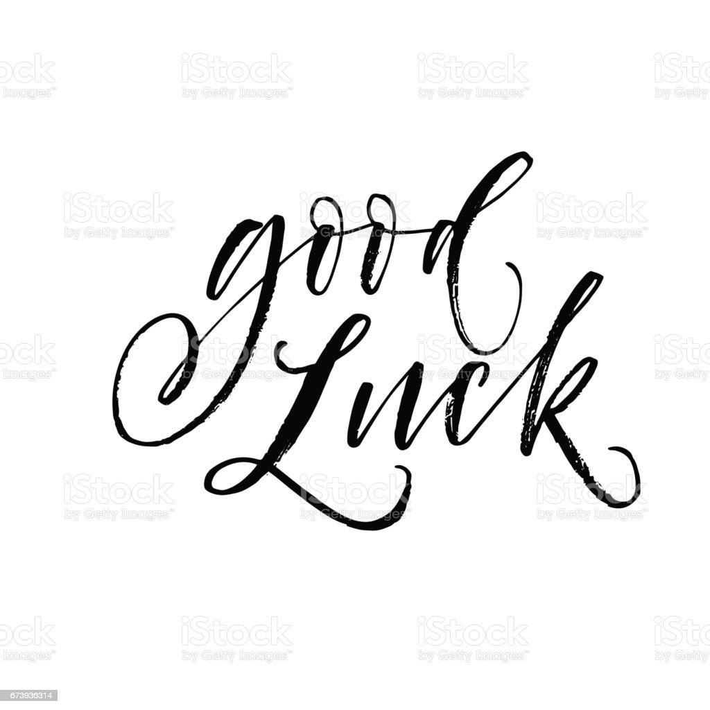 Good luck postcard. vector art illustration