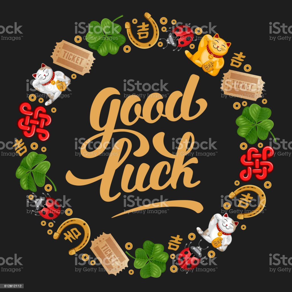 Good Luck vector art illustration