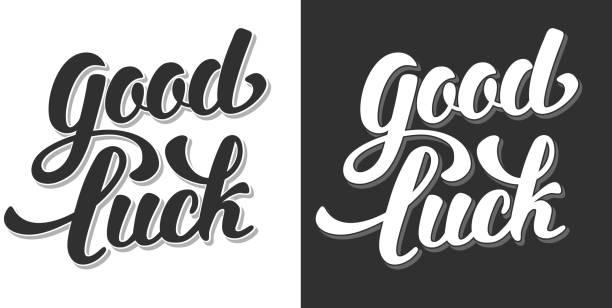Buena suerte - ilustración de arte vectorial