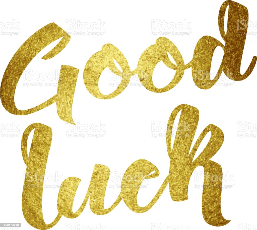 Good luck wish note hand written lettering greeting card concept good luck wish note hand written lettering greeting card concept royalty free good luck wish kristyandbryce Images