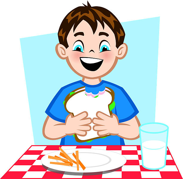 Good Lunch vector art illustration