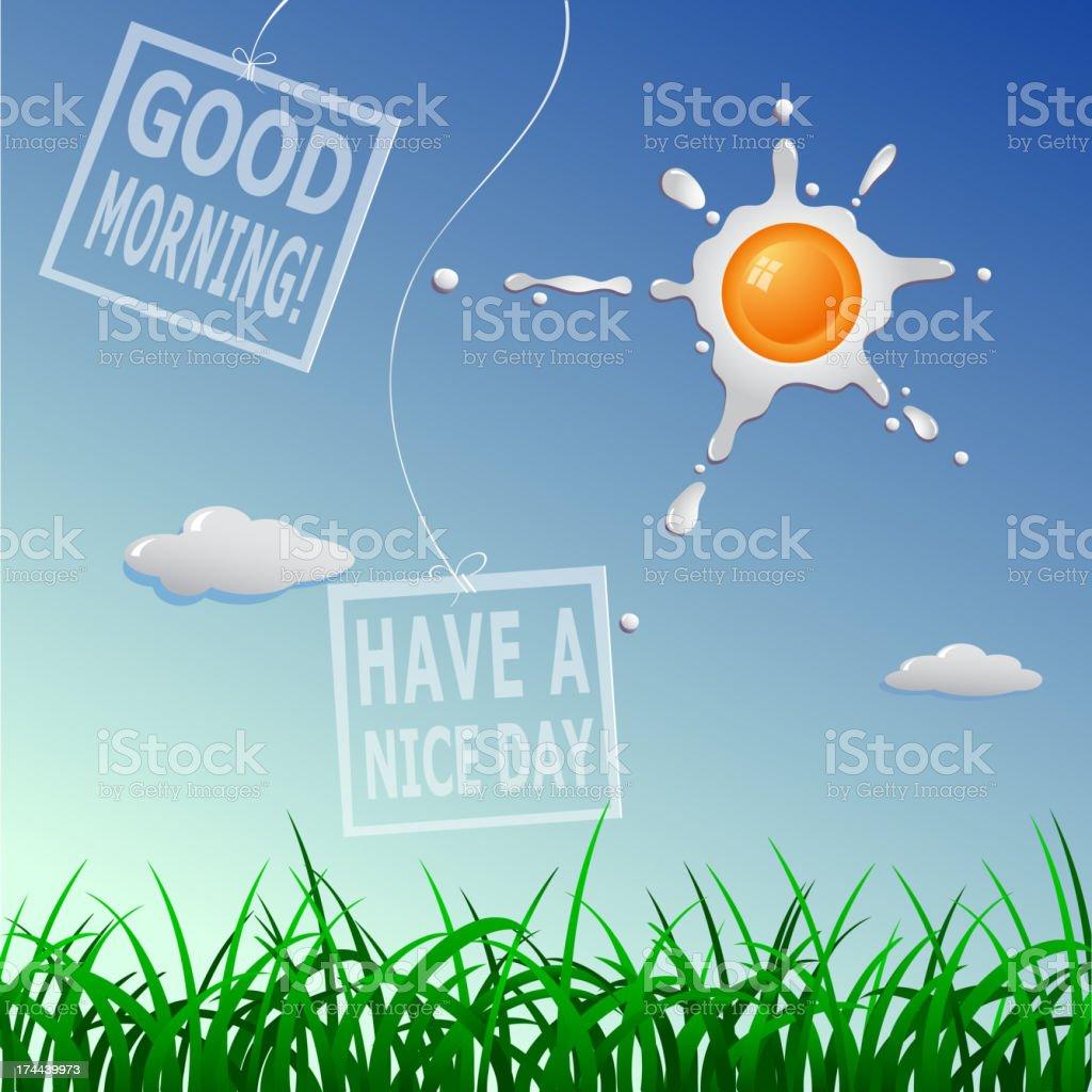 Guten Morgen Einen Schönen Tag Stock Vektor Art Und Mehr Bilder Von