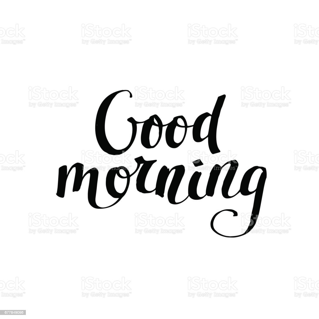 Good Morning Card Modern Brush Calligraphy Stock Vector Art  More