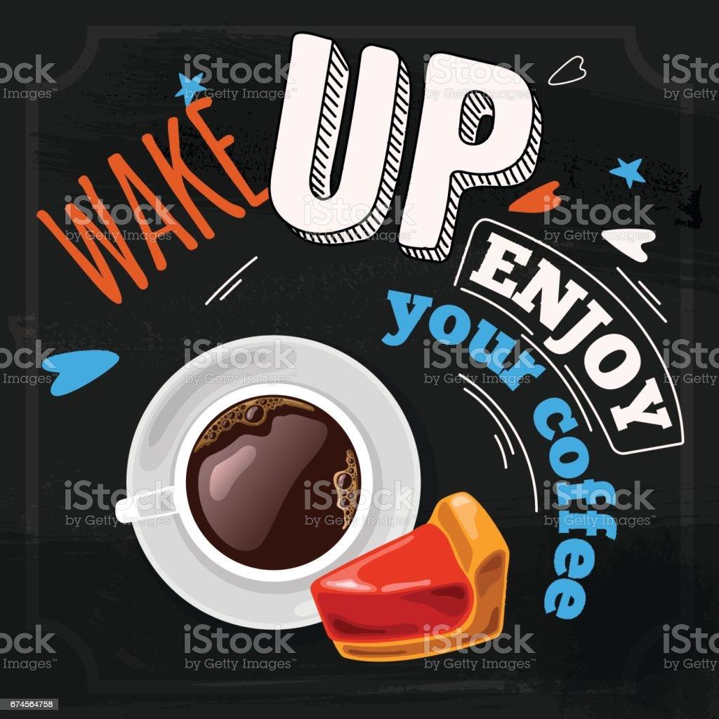 Good morning concept vector art illustration