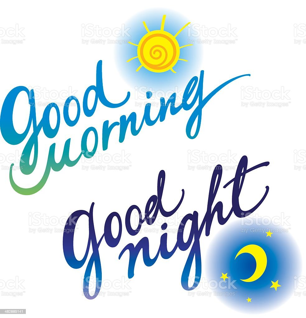 Good morning Good night royalty-free good morning good night stock vector art & more images of astronomy