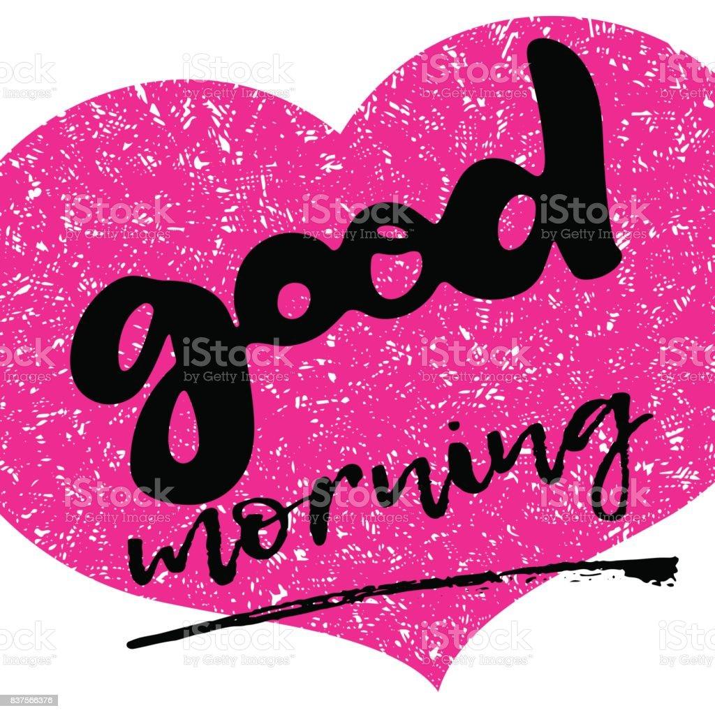 Guten Morgen Hand Zeichnen Von Text Schriftzug Inschrift Auf
