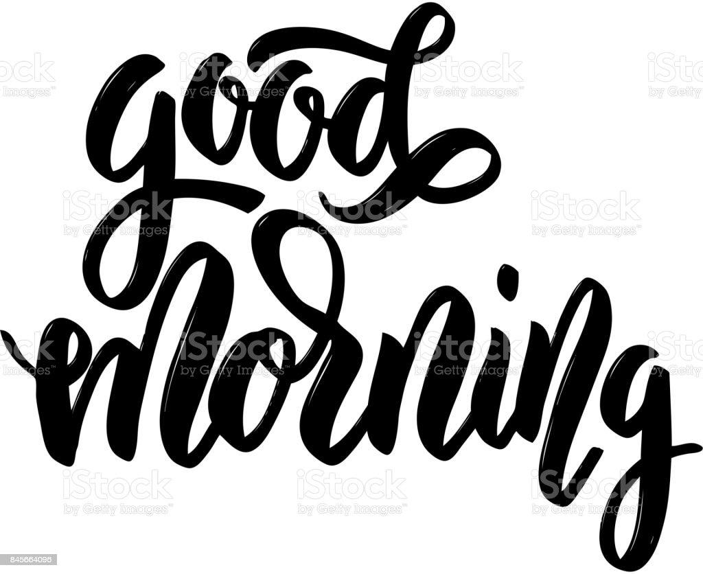 Guten Morgen Handgezeichnete Schriftzug Auf Weißem