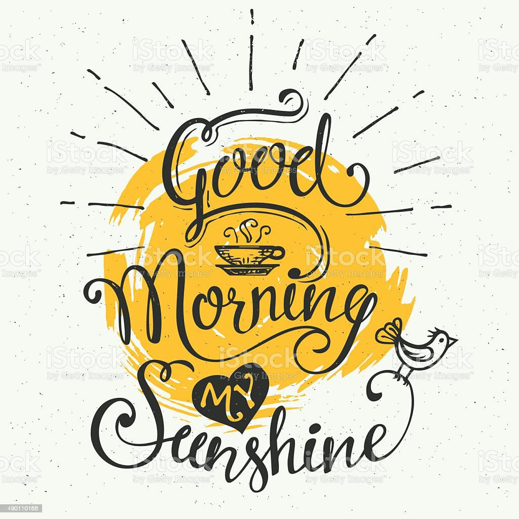 Good morning my sunshine vector art illustration