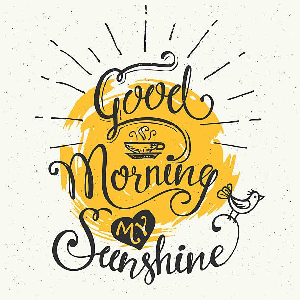guten morgen meine sunshine - frühstück stock-grafiken, -clipart, -cartoons und -symbole