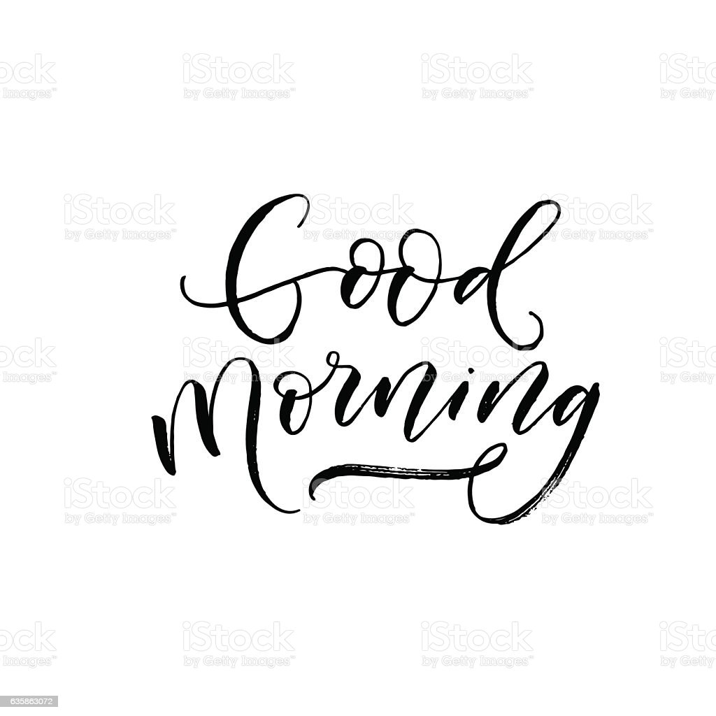 Good Morning Postcard Stock Vector Art & More Images Of