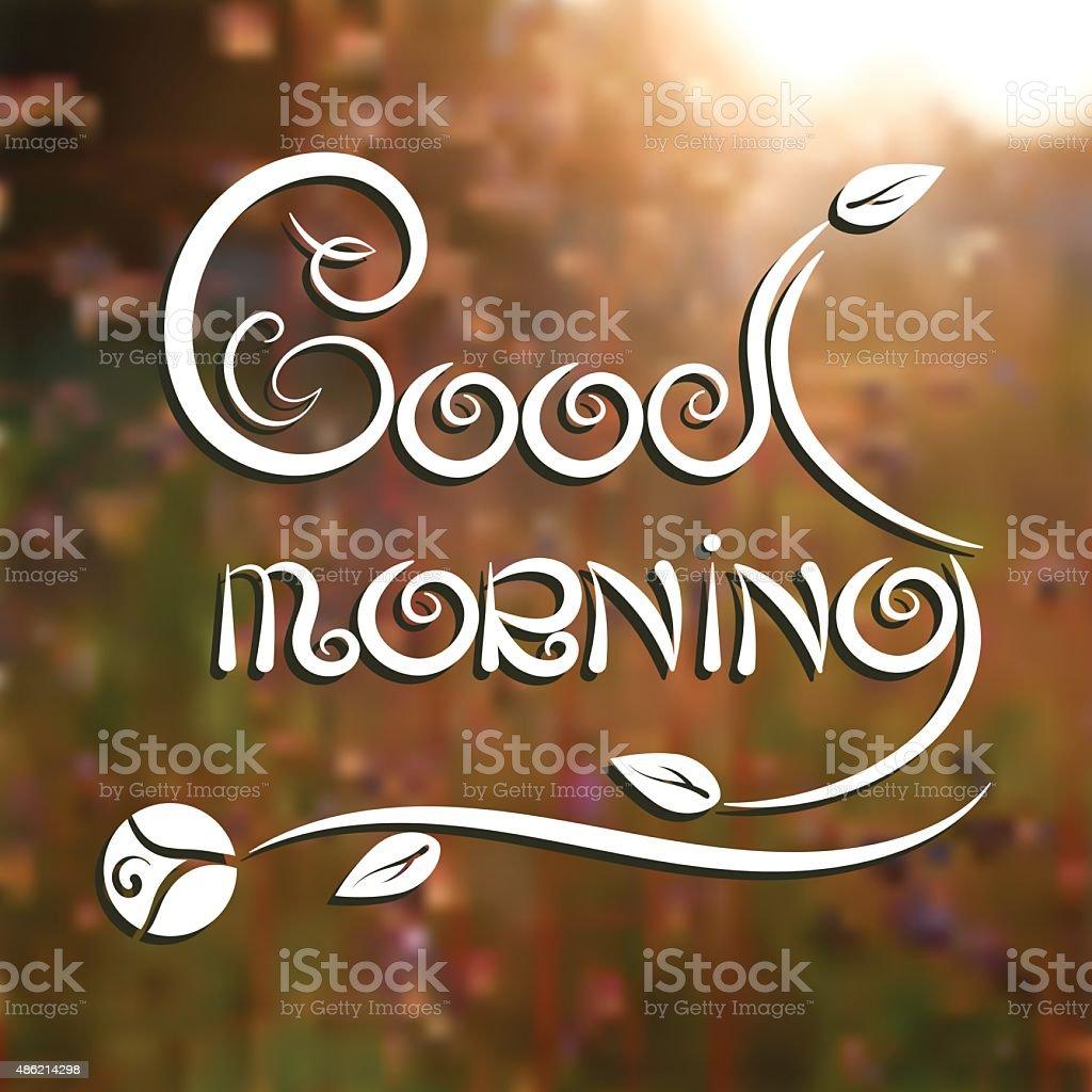 Guten Morgen Romantische Poster Stock Vektor Art Und Mehr