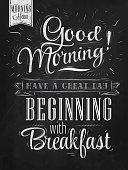 Good morning sayings written on chalkboard